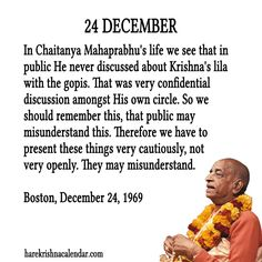 Srila Prabhupada Quotes for 24 Dec 2013