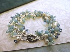 Simple Turquoise and Pearl Bead Bracelet | Jewelry Pinn