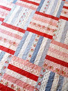 English Pathways Quilt Pattern Digital Download PDF | Etsy Strip Quilt Patterns, Vintage Quilts Patterns, Patchwork Quilt Patterns, Strip Quilts, Patchwork Fabric, Patchwork Designs, Easy Quilts, Quilting Designs, Quilt Blocks