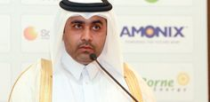 Al-Kuwari delivering the keynote speech at our recent Alternative energy Investors Summit in Qatar