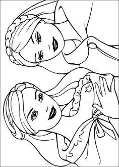 omalovánky s barbie princezna a švadlenka k vytisknutí zdarma  omalovánky princezny