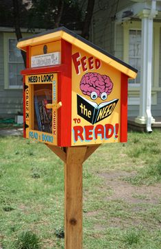 Image 2. Each Little Free Library is built differently. Photo: TNS Tribune.