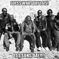 GUESS WHAT DAY IT IS! IT'S SONS-DAY!!!! - Let the Mayhem begin! 9/9/2014