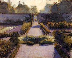 The Kitchen Garden, Yerres. Gustave Caillebotte