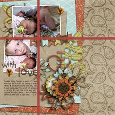 digital scrapbook layout by suzy. Rule of Thirds