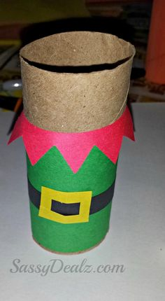 elf toilet paper tube craft for kids
