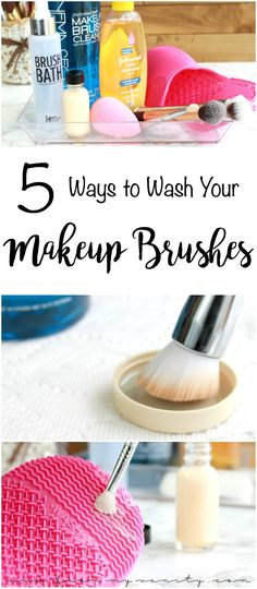 5 ways to wash your makeup brushes tips & tricks highend, drugstore, an How To Wash Makeup Brushes, Make Makeup, Makeup Tips, Beauty Makeup, Makeup Box, Makeup Ideas, Chanel Makeup, Makeup Style, Makeup Brush Cleaner