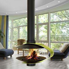 poêle à bois suspendu design innovant