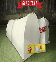 Glad Tent | A combination tent and garbage bag #survivallife www.survivallife.com