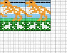 free fair isles ravelry Dinosaur chart pattern by Sandra Jäger Knitting Charts, Free Knitting, Knitting Patterns, Intarsia Patterns, Loom Patterns, C2c, Cross Stitch Designs, Cross Stitch Patterns, Fair Isle Chart