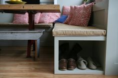 Cat litter box? Would need hinged lid...   In Plain Sight: 10 Smart Solutions for Everyday Organizing