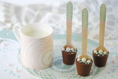 DIY Pretty hot chocolate spoons