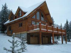 Log House Plans Timber Frame House Plans Three Car