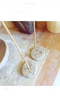 Ceramic Clay, Ceramic Pottery, Pottery Art, Polymer Clay Crafts, Diy Clay, Keramik Design, Clay Art Projects, Incense Holder, Diy Décoration