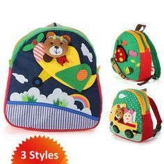 Handmade 3D Canvas Children's Backpack - Cute and Colorful