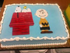 Charlie Brown and Snoopy Cake