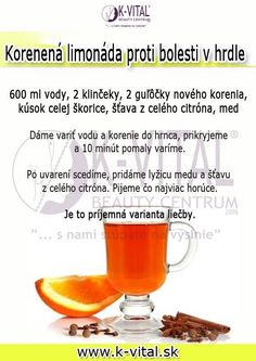 korenená limonáda proti bolesti v hrdle: Glycemic Index, Detox, Timeline Photos, Pharmacy, Smoothie, Meal Planning, Health Fitness, Food And Drink, How To Plan