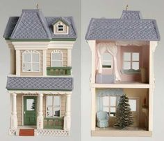 Hallmark Nostalgic Houses & Shops at Replacements, Ltd Vampire House, Hallmark Christmas Ornaments, Contemporary Cottage, House Ornaments, Christmas Centerpieces, Gazebo, Outdoor Structures, Shops, Main Street