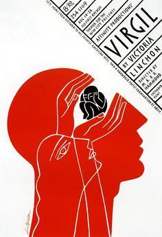 """Virgil"" Poster by Luba Lukova Graphic Design Posters, Graphic Design Inspiration, Graphic Art, Buch Design, Art Design, Illustration Design Graphique, Illustration Art, Creative Illustration, Luba Lukova"