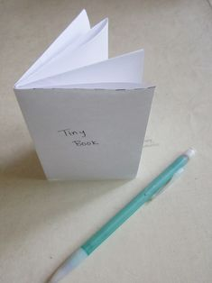 Tiny Foldable Book-- use one piece of paper to make a little book. Use for students to write down a step-by-step procedure or notes (like a story plot).