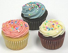 Cupcakes with colourful sprinkles for Spring from Cupid's.
