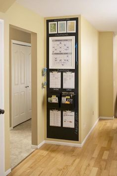 Better Homes and Gardens - Central Command Center - Small Space Family Command Center Family Command Center, Command Center Kitchen, Diy Casa, Ideas Para Organizar, Staying Organized, Better Homes And Gardens, Small Apartments, Small Rooms, College Apartments