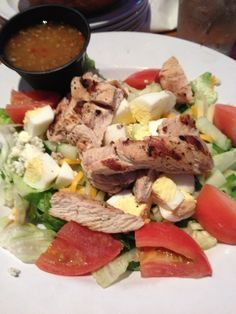 Day 12 (lunch): yummy grilled chicken cob salad (no croutons or bacon)