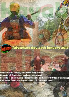 Bootcamping Belfast and Northern Ireland present the first Adventure of 2015... Kayak, Bike and Hike aka Land Sea and Scare ;-)