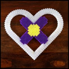 Heart hama beads by Merrily Me