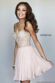 Sherri Hill Short Homecoming Dress 8548 at Peaches Boutique