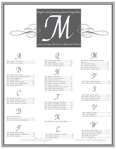 Wedding Reception Seating Chart, wedding chart, wedding monogram, table seating