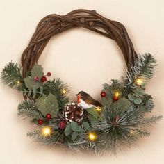 christmas wreaths and garland | An elegant and natural mix of foliage, real cones, Eucalyptus and red ...