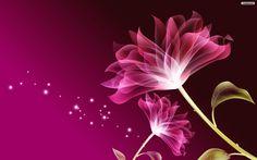 Purple Flowers Background Wallpaper | Wallpaper Download