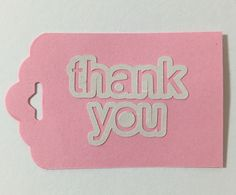 Tag feito com papel cartolina