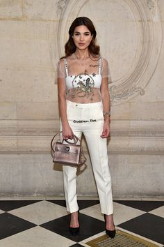 Negin Mirsalehi attends the Christian Dior Haute Couture Spring Summer 2017 show as part of Paris Fashion Week on January 23 2017 in Paris France