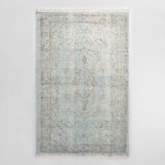 5'x8' Gray Woven Cotton Naomi Area Rug | World Market