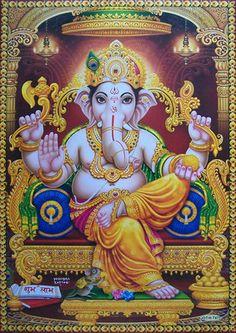 "Lord Ganesh Ganesha - Lovely POSTER - 21""x31"" (#7472)"