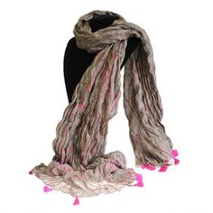 Antique Tasseled Scarf - RoseSize: L: 180 cm; W: 150 cm; Unwrap the twist to release a delightfully crushed cotton textured scarf. Made from 100 % cotton, in India. Wholesale Scarves, Cheap Scarves, Cotton Texture, Bagan, Cotton Scarf, Ethical Fashion, Rose, Teal, Pure Products