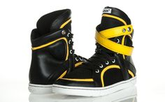 The Beast fitness high top sneakers from Heyday Footwear, the freshest independent sneaker brand for fitness freaks, hip hop dancers, and taste makers available only at www.HeydayFootwear.com