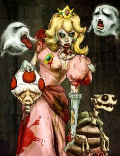 Zombie Princess Peach