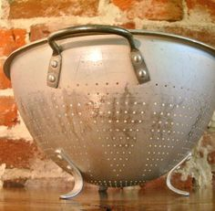 Large Vintage Aluminum Colander - we had this exact colander. I wish I had kept it from my parents' home because it evokes such happy memories as i developed my passion for cooking and baking! Thanks For The Memories, Great Memories, Good Old Times, The Good Old Days, Vintage Antiques, Vintage Items, Nostalgia, Oldies But Goodies, My Childhood Memories