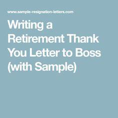 Retirement Letter Boss Sample Word Doc Download Templates Teacher