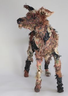The Haberdasher's Dog..made from old vintage curtains and textiles
