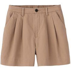 UNIQLO Women Cotton Flare Shorts ($20) ❤ liked on Polyvore