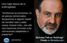 Nicholas Taleb antifragilidad ...invertir en personas