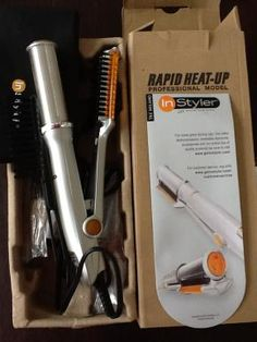 IN Styler - The Rotating Iron - New - Professional Curling Iron - Rapid Heat Up