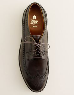 Think of them as your workhorse shoe. Perfect with everything from jeans to suits, and appropriate for everything but formal occasions and (very) important meetings with (relatively) conservative business partners. Longing bluchers ($515) by Alden for J. Crew, jcrew.com