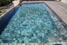 pierre verte piscine   Piscine verte Carrelage et salle de bain La Seyne Var - Caro Styl