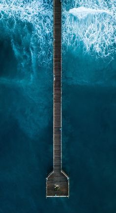 Ocean Pier Top View Photography Art Print by Standard Prints - X-Small Aerial Photography, Landscape Photography, Nature Photography, Scenic Photography, Night Photography, Landscape Photos, Abstract Landscape, Online Galerie, Behind Blue Eyes