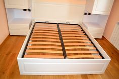 Mobila Dormitor cu Usi din MDF Culoare Alb Fibros Frezare A 71 P Pat Matrimonial 1600 x 2000 Kitchen, Home, Cooking, Kitchens, Ad Home, Homes, Cuisine, Haus, Cucina